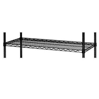 Focus Foodservice FF1424BK Black Epoxy Coated Wire Shelf, 14'' X 24'', Steel Wire, 800 lbs Capacity