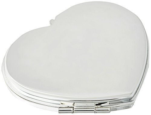 Silver Plated Classic Heart Compact ()