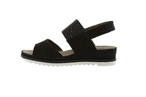 Sandales pour noir noir Gabor femme qxpH0ZZw