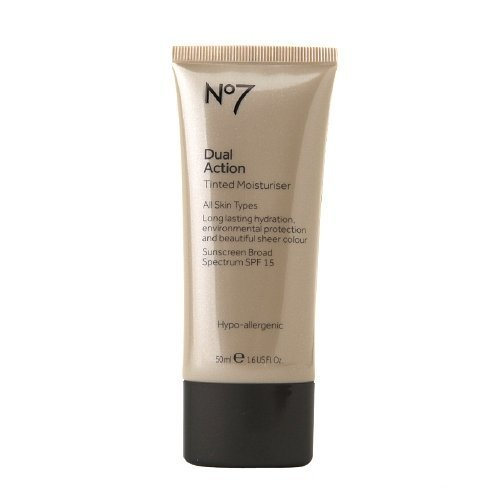 Boots No7 Dual Action Tinted Moisturiser, SPF 15, Medium 1.69 fl oz (50 ml)