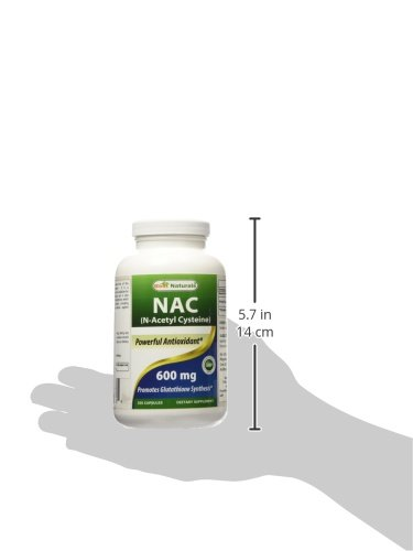 Best Naturals NAC N-Acetyl-Cysteine 600 mg 250 Capsules by Best Naturals (Image #6)