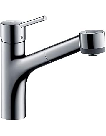 53bd47eb5073f1 Save on hansgrohe Talis S kitchen tap with pull out spray, 150° swivel spout