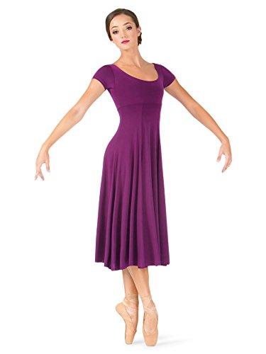 Natalie Dancewear Adult Short Sleeve Dress N8367PNKL Pink Large