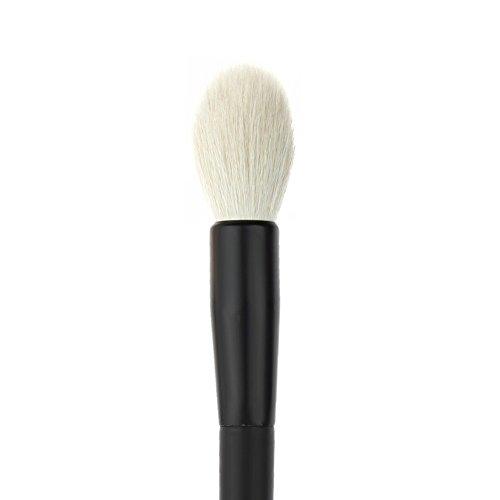 1pc Pro Makeup Brush High Quality White Goat Hair Face Powder Blush Fire Brushes Copper Ferrule Make Up Cosmetic Beauty Tools