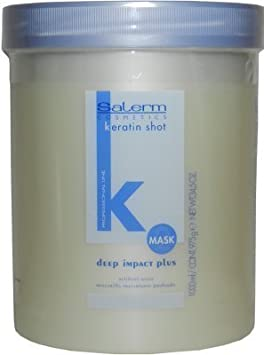 SALERM KERATINA MASCARILLA Deep Impact 1000 ml Keratin Shot Lifting Capilar