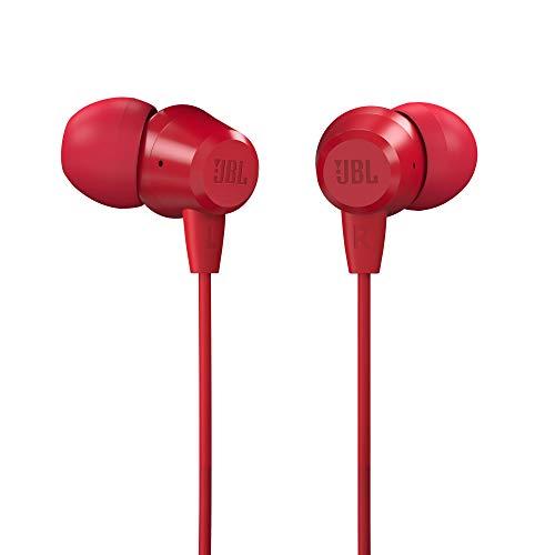 JBL C50HI by Harman in-Ear Headphones with Mic (Red)