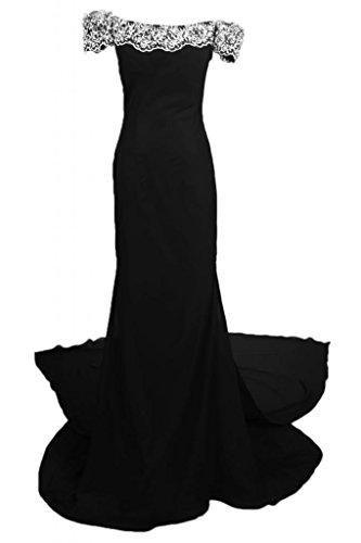 spalla vestiti Sunvary a scollo da abito donna Off Maxi Romantic per Pageant sera L Black da wqxqT71X