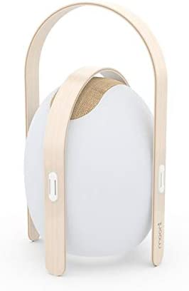 f/ür den Au/ßenbereich H/öhe 50 cm wiederaufladbar RGB Wei/ß Ovo Lampe Holz//ABS