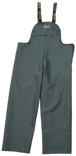 Dutch Harbor Gear Men's Quinault Rain Bib, Green, Large