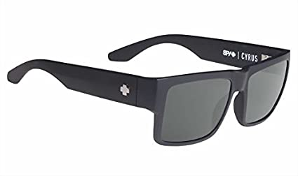 4120a71f8c Image Unavailable. Image not available for. Color  Spy Cyrus Soft Matte  Black Happy Gray Green Polar Sunglasses