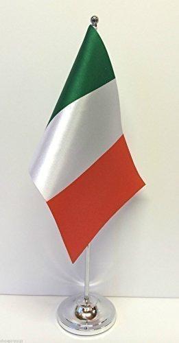Bandiera italiana, da tavolo, con Base cromata, Set di bandiere emblems gifts
