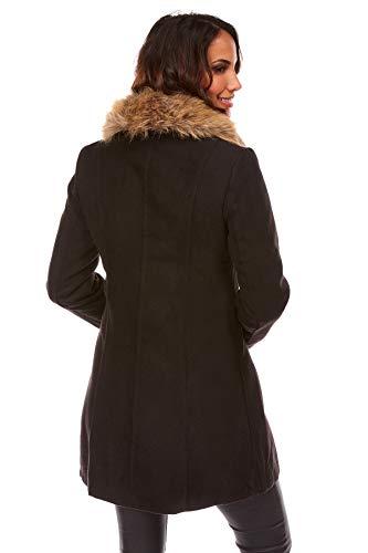 Doucel Col Noir Fourrure Montant Comptoir Creations Femme Manteau Du Le 1PFFxB