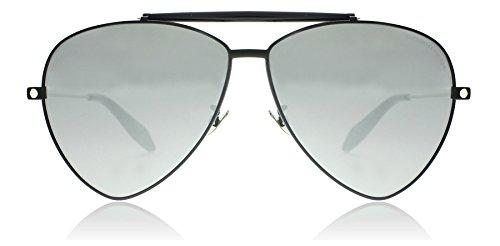 Alexander McQueen Unisex AM0058S Black/Silver Mirror - Sunglasses Alexander Mcqueen Men