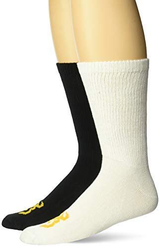 Browning Unisex Crew Socks   Black and White   Large   2 Pairs