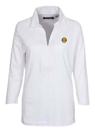 NCAA Virginia Commonwealth Rams Women's Ladies' Long Sleeve Classic Polo, White, X-Large