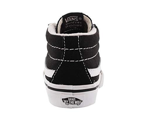 17cb75893a3b Vans Toddler Sk8-Mid Reissue V Black True White Skate Shoe 4 Infants ...