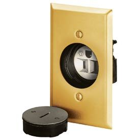 Bryant Electric 3799G Receptacle, Outlet, Brass
