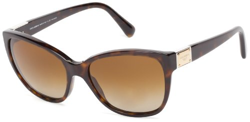 D&G Dolce & Gabbana 0DG4195 502/T556 Polarized Butterfly Sunglasses,Havana,56 - Amazon G And Sunglasses D