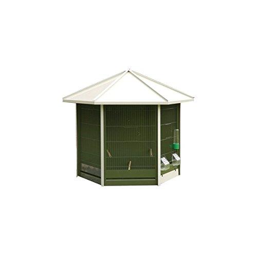 vadigran Nr 40Voliere grün mit Dach weiß für Vogel 93x 43x 78cm