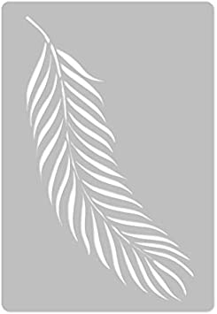 Plant Palm Leaf #3 //// Art Craft Mylar Template Reusable Plastic Wall Stencil //// 17.7 x 25.5 //// Tropical