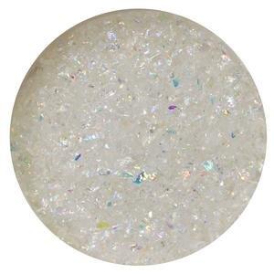 Dichoric Glass - 1 Oz Rainbow Dichroic Medium Frit Flakes On Clear - 96 Coe