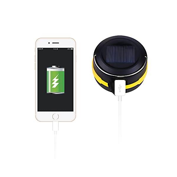 31b5E8gQ9rS Molbory Camping Laterne Taschenlampe Zusammenklappbar, 2 Lademethoden Solar und USB mit 3 Lichtmod Faltbare Camping…