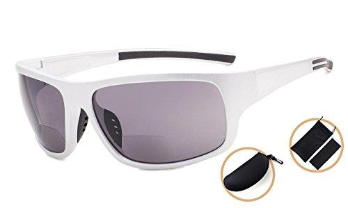 Eyekepper Sol De Rojo De Sol Strength Gafas Lente Plata Brillante Bifocales 2 Gris Marco 50 Lectura Espejo Gafas pqrcwSRp