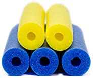 FixFind - Pool Noodles - 5 Pack of Large 52 Inch Hollow Foam Pool Swim Noodles