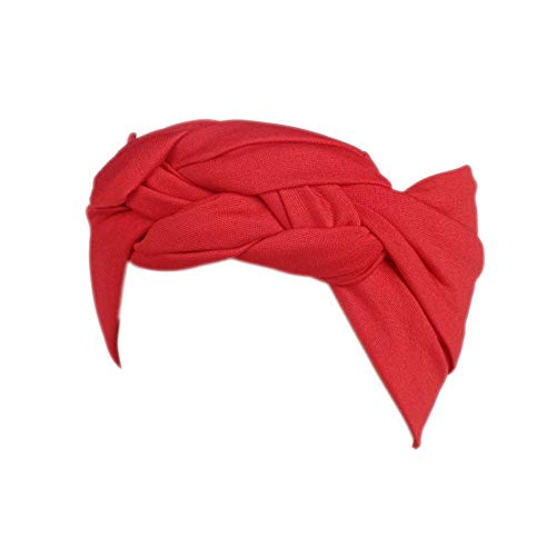 BUKEZH Women's Sports Hairband Popular Wide Elastic Hair Head Hoop Colorful Practical Headband (Red)]()