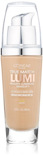 L'Oréal Paris True Match Lumi Healthy Luminous Makeup, W6 Sun Beige, 1 fl. oz.