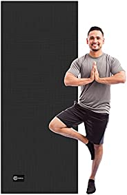 """Cambivo Extra Long Yoga Mat for Men, Wide Exercise Mat (80"""" x 30"""" x 6mm) for Yoga, Pilates, Fitness,"""