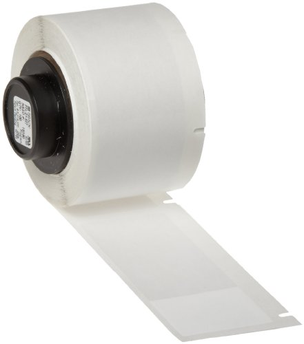 "Brady PTL-21-427 TLS 2200 And TLS PC Link 2.5"" Height, 1"" Width, B-427 Self-Laminating Vinyl, White And Translucent Color Label (100 Per Roll)"