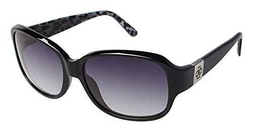 Ann Taylor AT502 Sunglasses - Frame Black/Animal Print, Size - Sunglasses Ann Taylor