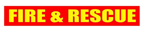 FIRE & Rescue Reflective Magnetic Strip. Vehicle Magnet. Fire Truck. Fire Fighter Brigade