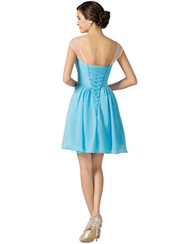 Ruched Bodice Evening Dresses with Beadings Size 6 Turquoise