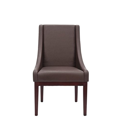 Safavieh Mercer Collection Mario Leather Arm Chair, Brown