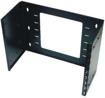 Installerparts 8U Hinged Extendable Wall Mount Bracket, Max 13.5 Depth Made of Thick Steel