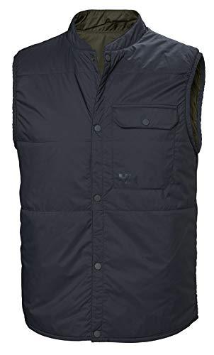 Helly Hansen Men's Shibuya Reversible Insulated Vest, Graphite Blue, Small (Vest Insulated Reversible)