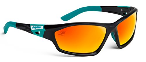 Officially Licensed NFL Sunglasses, Miami Dolphins, 3D Logo on Temple - 100% UVA, UVB & UVC - Miami Glasses Eye