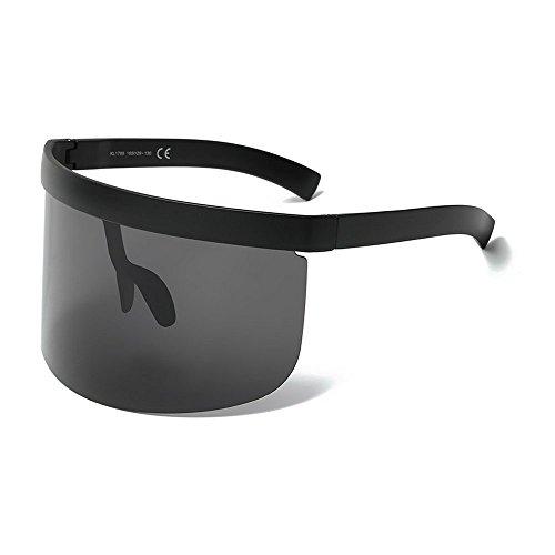 (MINCL/Super Large Futuristic Oversize Shield Visor Sunglasses Flat Top Mirrored Mono Lens 172mm)