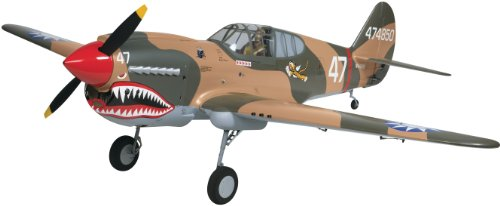 Top Flite P-40 Warhawk Giant Scale Radio Controlled Glow or Gasoline Powered Almost Ready-to-Fly Airplane