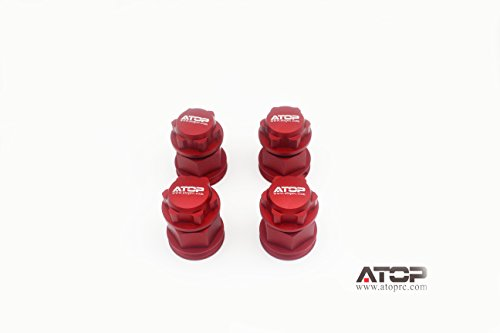 ATOP RC Wheel Extender for Losi 5ive-T/B and Mini (Red)