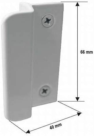 Schrauben braun inkl stabiler Ziehgriff Balkongriff//Balkont/ürgriff flach aus Aluminium