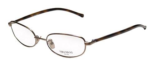 Vera Wang Wafer Womens/Ladies Designer Full-rim Eyeglasses/Eyewear (50-16-133, Bronze / Havana)