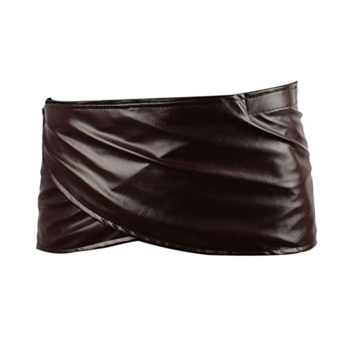 FangjunxianST Attack Titan Leather Skirt Short Brown Hookshot Belt Apron