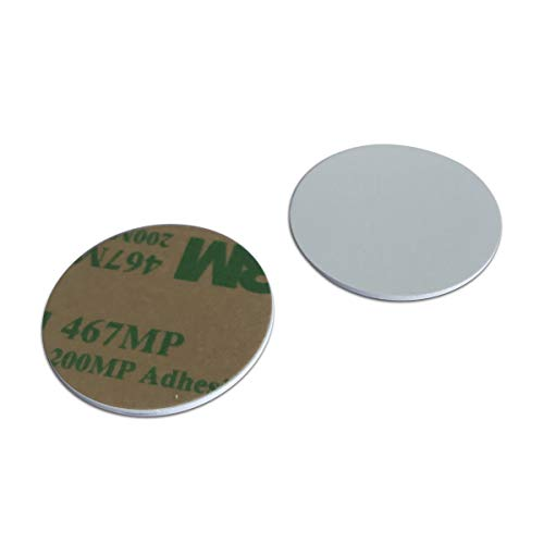 (125 khz RFID Sticker,PVC Material 1mm Thick id Coin Key fobs (Pack of 10))