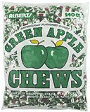 Albert's Fruit Chews - Green Apple Flavor (240 Candies)