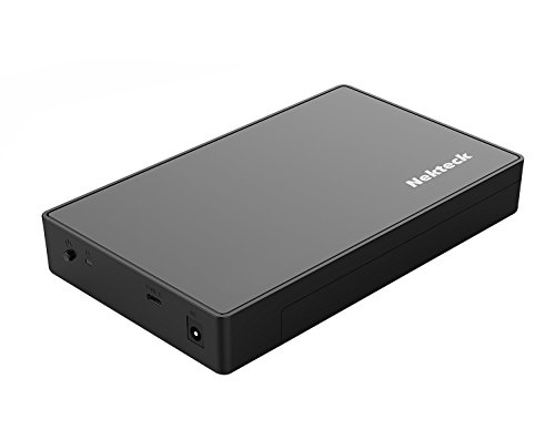 Nekteck 3.5/2.5-inch USB Type C 3.0 External HDD Hard Drive Disk Enclosure Case with USB C Interface for 3.5'' 2.5'' SATA SSD, HDD [Support UASP and 8TB Drives] Tool-Free Design - Black by Nekteck