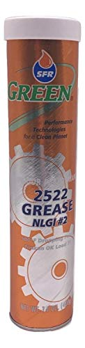 SFR 2522 HIGH Temperature GREASE-14 Ounce Cartridge Multi-Purpose Extreme Pressure Moly Infused Grease. Safe for All Equipment and Automotive Applications Including Wheel Bearings.