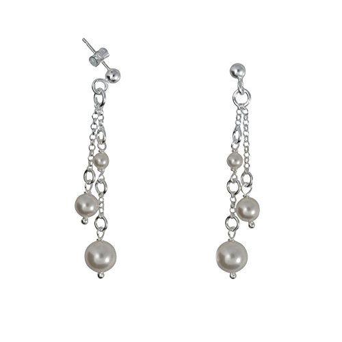 Canyon - Boucles d'oreilles pendantes - Argent 925 - Perle - Perle d'imitation - E3562